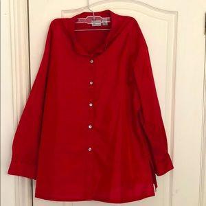 Chico's Silk Button-Down Dress Shirt